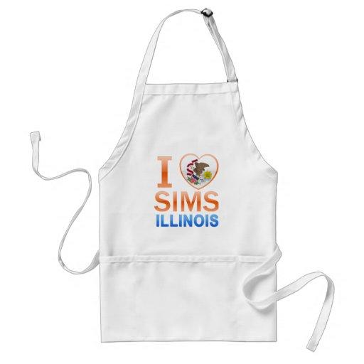 I Love Sims, IL Apron