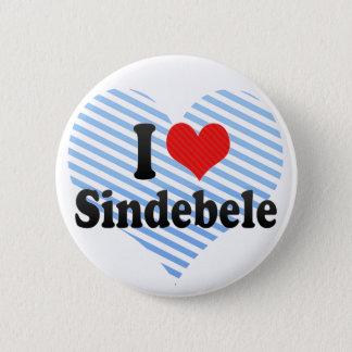 I Love Sindebele 6 Cm Round Badge