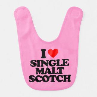 I LOVE SINGLE MALT SCOTCH BABY BIBS