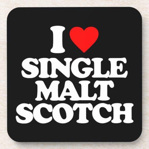 I LOVE SINGLE MALT SCOTCH COASTER