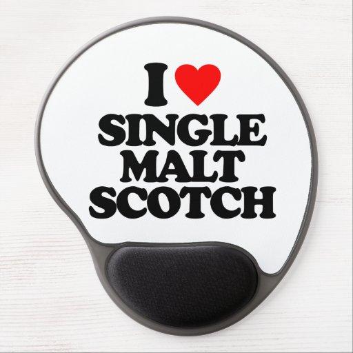 I LOVE SINGLE MALT SCOTCH GEL MOUSE PAD
