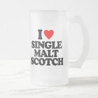 I LOVE SINGLE MALT SCOTCH BEER MUG