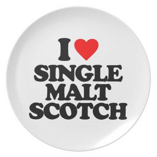I LOVE SINGLE MALT SCOTCH PARTY PLATE