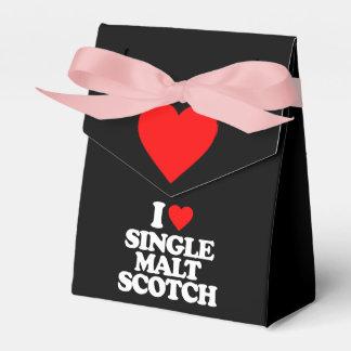 I LOVE SINGLE MALT SCOTCH WEDDING FAVOUR BOXES