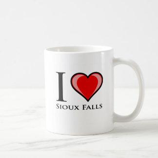 I Love Sioux Falls Basic White Mug