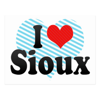 I Love Sioux Post Card