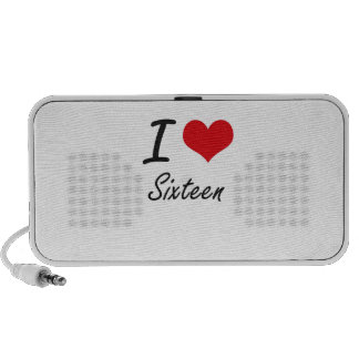 I Love Sixteen Portable Speaker