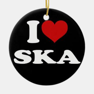 I Love Ska Ceramic Ornament