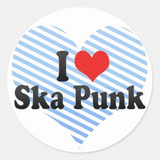 I Love Ska Punk Stickers