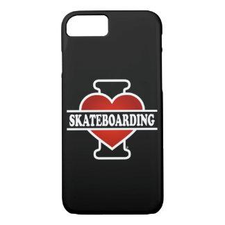 I Love Skateboarding iPhone 7 Case