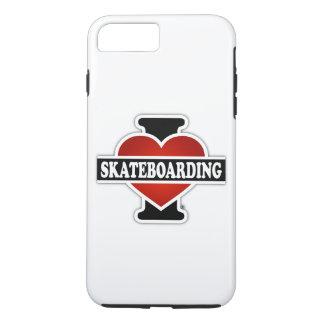 I Love Skateboarding iPhone 7 Plus Case