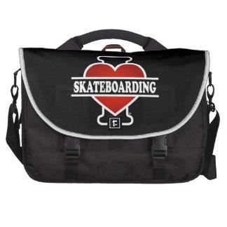 I Love Skateboarding Laptop Messenger Bag