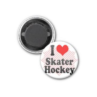 I love Skater Hockey Refrigerator Magnets