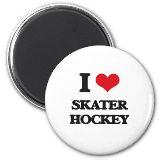 I Love Skater Hockey Magnet