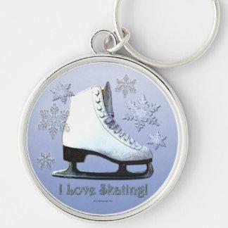 I Love Skating Key Ring