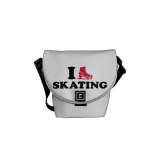 I love Skating Messenger Bags