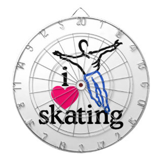 I Love Skating/Skater Dartboard With Darts
