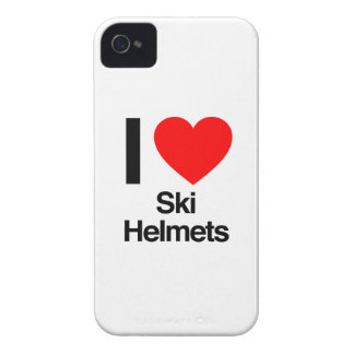 i love ski helmets iPhone 4 case