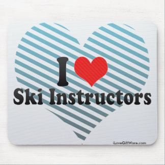 I Love Ski Instructors Mousepads