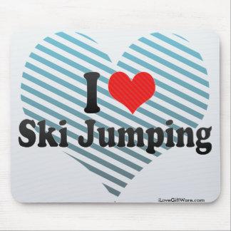 I Love Ski Jumping Mousepad