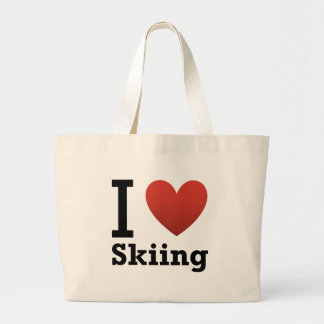 I Love Skiing Bags