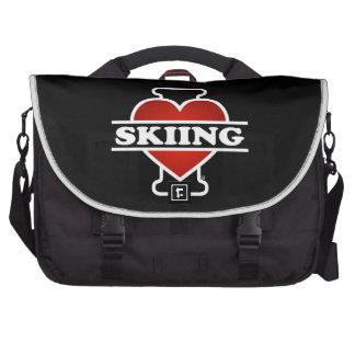I Love Skiing Commuter Bag