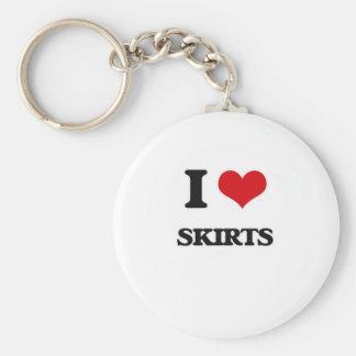 I love Skirts Key Ring