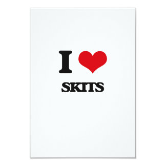 I love Skits 9 Cm X 13 Cm Invitation Card