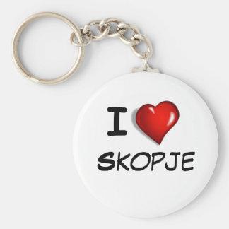 I Love Skopje Key Ring