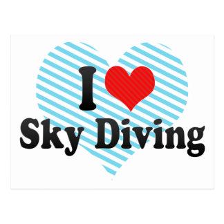 I Love Sky Diving Post Card