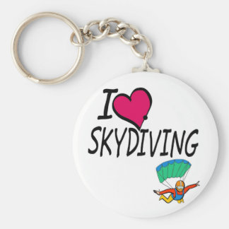 I Love Skydiving Key Ring