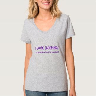 I Love Sleeping  - purple T-Shirt