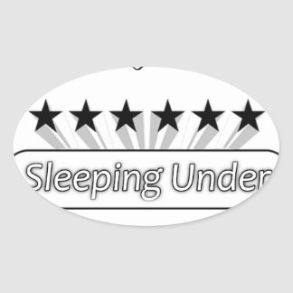 I Love Sleeping Under The Stars Oval Sticker