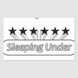 I Love Sleeping Under The Stars Rectangular Sticker