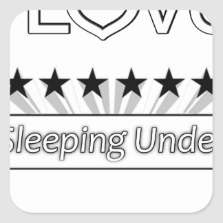 I Love Sleeping Under The Stars Square Sticker