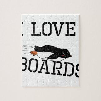 I Love Sliding Boards Jigsaw Puzzle