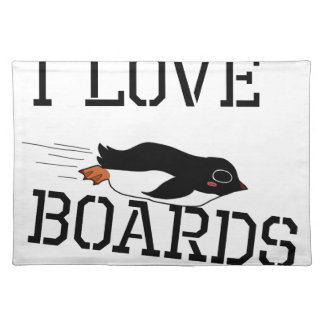 I Love Sliding Boards Placemat