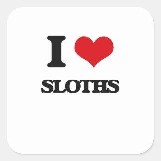 I love Sloths Square Sticker