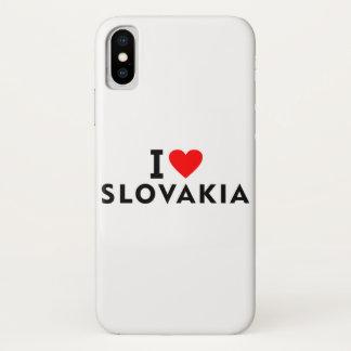I love Slovakia country like heart travel tourism iPhone X Case