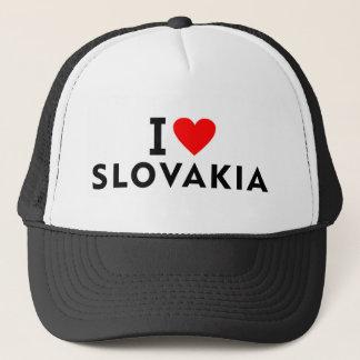I love Slovakia country like heart travel tourism Trucker Hat