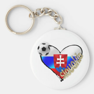 I love Slovakia Repre sooccer Slovakia flag heart Key Ring