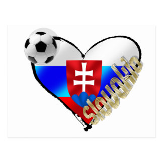 I love Slovakia Repre sooccer Slovakia flag heart Postcard