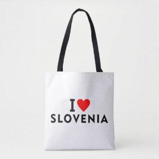 I love Slovenia country like heart travel tourism Tote Bag