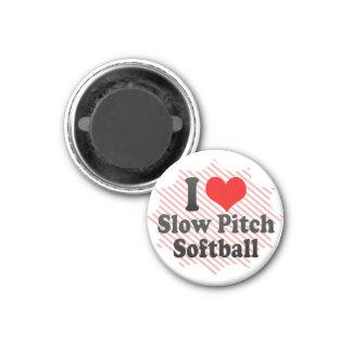 I love Slow Pitch Softball Fridge Magnets