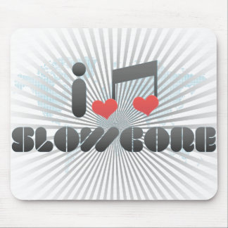 I Love Slowcore Mouse Pads