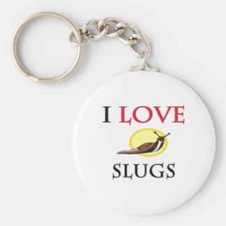 I Love Slugs Key Ring