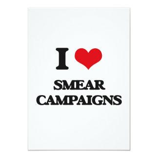 "I love Smear Campaigns 5"" X 7"" Invitation Card"