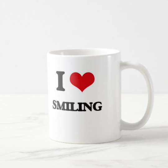 I love Smiling Coffee Mug