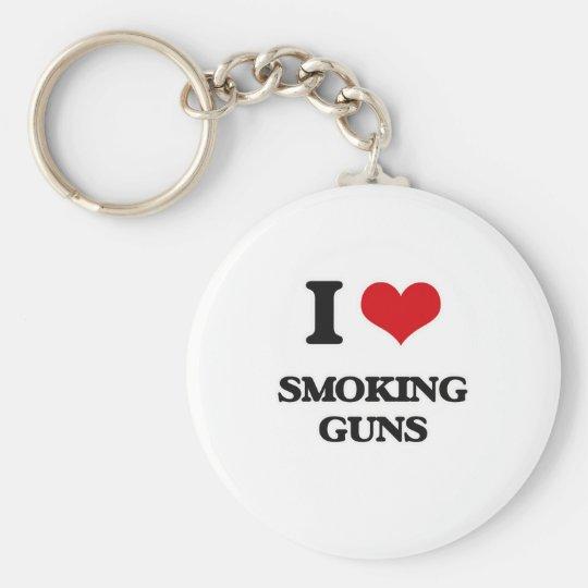 I love Smoking Guns Key Ring