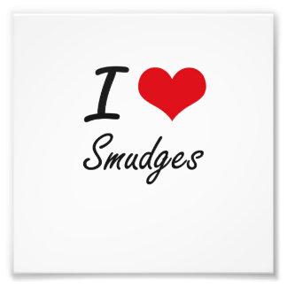 I love Smudges Photographic Print